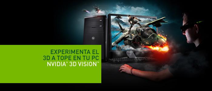 Nvidia 3d vision para obtener la mejor experiencia 3d posible en